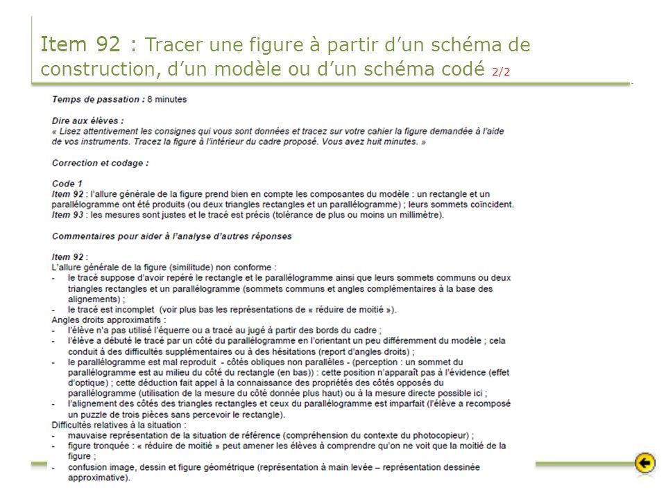 Item 92 : Tracer une figure à partir d'un schéma de construction, d'un modèle ou d'un schéma codé 2/2