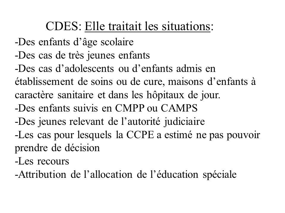 CDES: Elle traitait les situations: