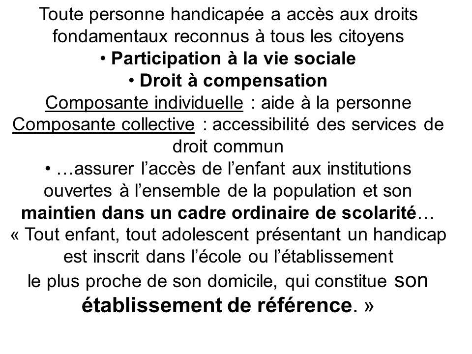 • Participation à la vie sociale • Droit à compensation