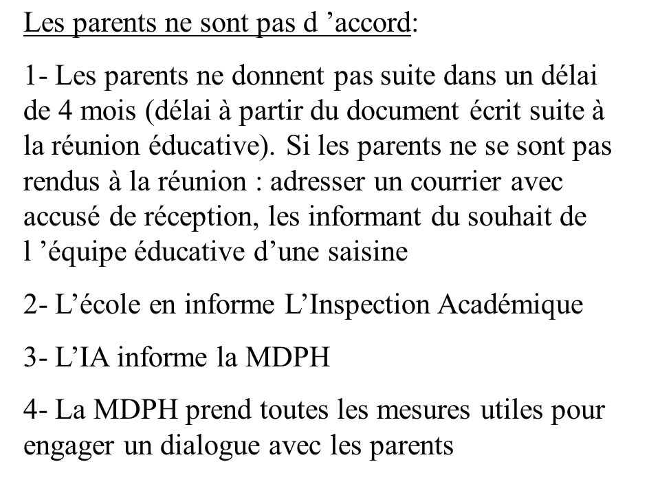 Les parents ne sont pas d 'accord: