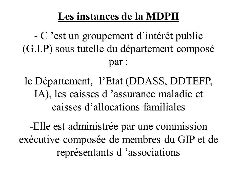 Les instances de la MDPH