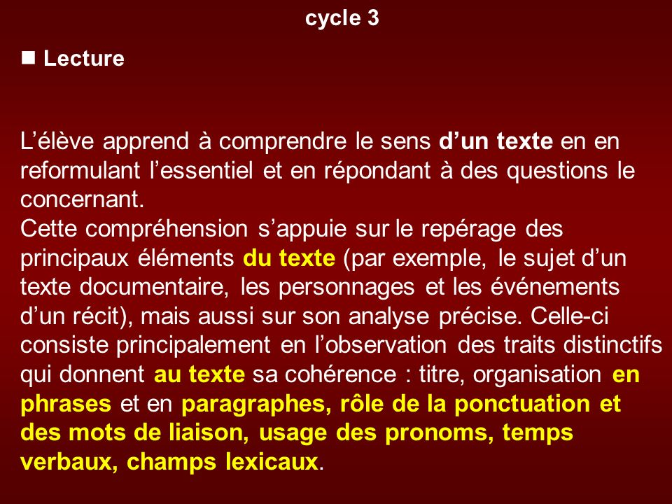 cycle 3  Lecture.