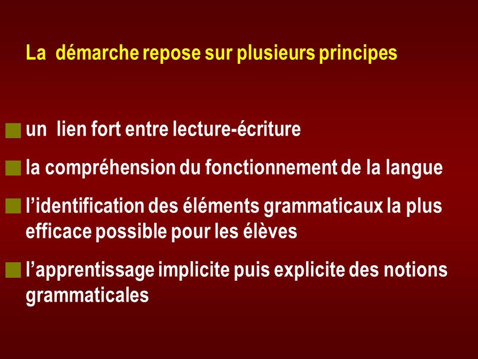La démarche repose sur plusieurs principes