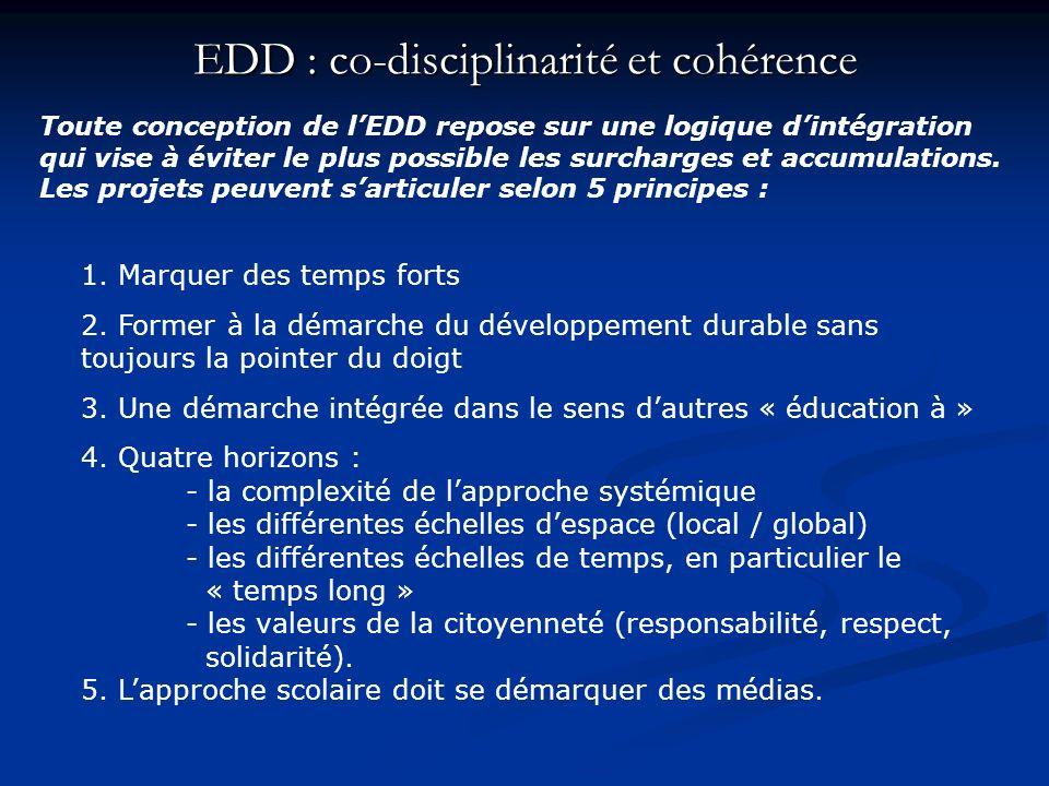 EDD : co-disciplinarité et cohérence