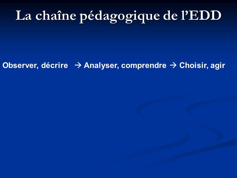 La chaîne pédagogique de l'EDD