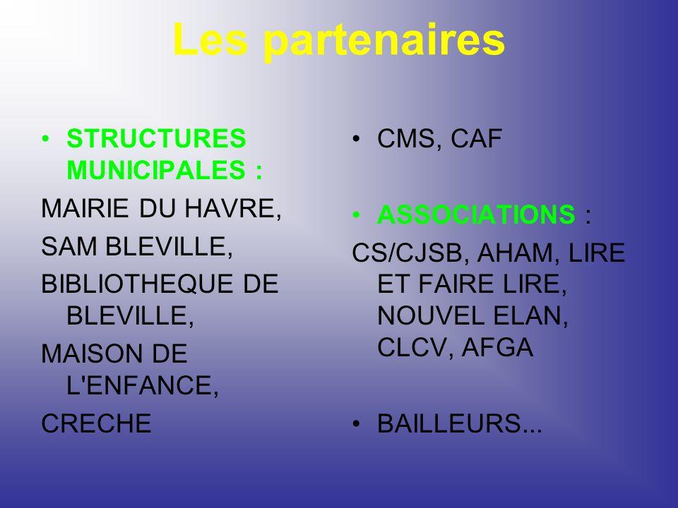 Les partenaires STRUCTURES MUNICIPALES : MAIRIE DU HAVRE,