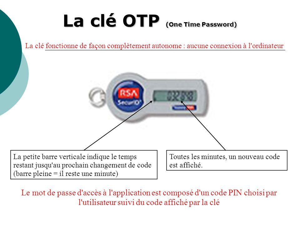 La clé OTP (One Time Password)