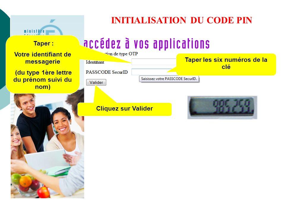 INITIALISATION DU CODE PIN