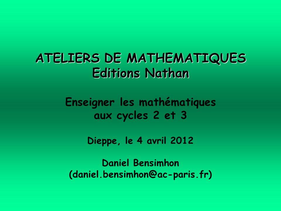 ATELIERS DE MATHEMATIQUES Editions Nathan