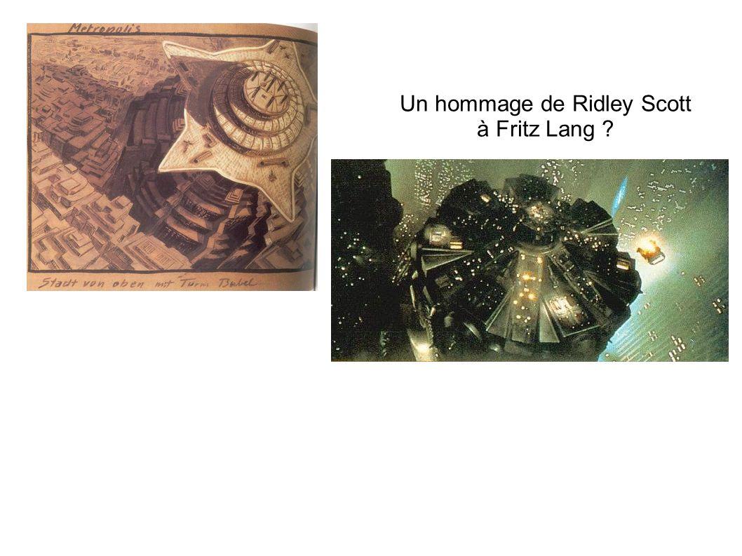 Un hommage de Ridley Scott à Fritz Lang