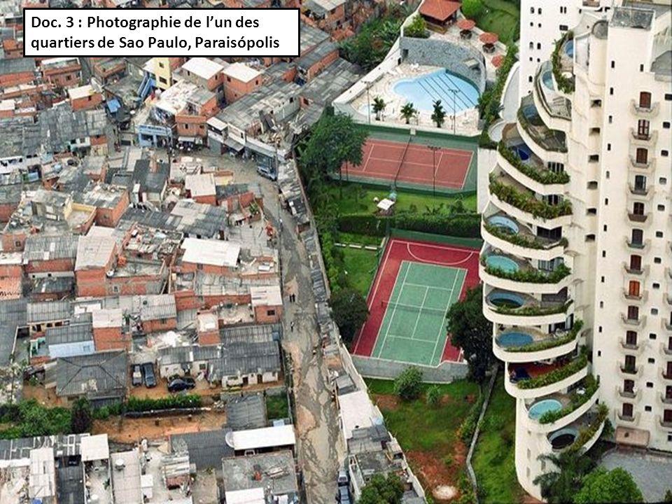 Doc. 3 : Photographie de l'un des quartiers de Sao Paulo, Paraisópolis