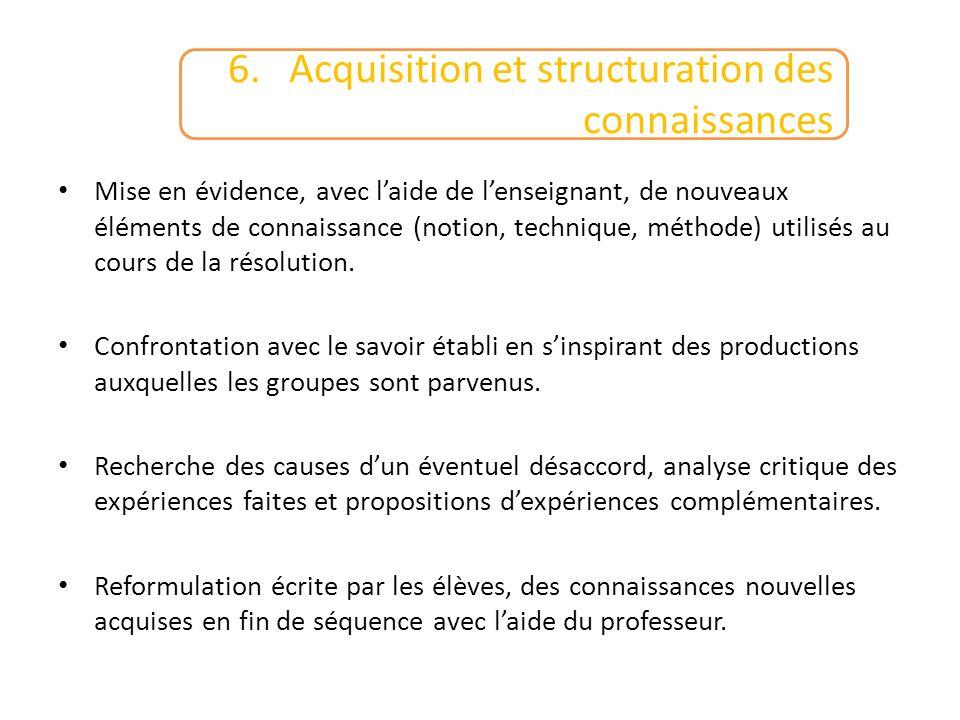 6. Acquisition et structuration des connaissances