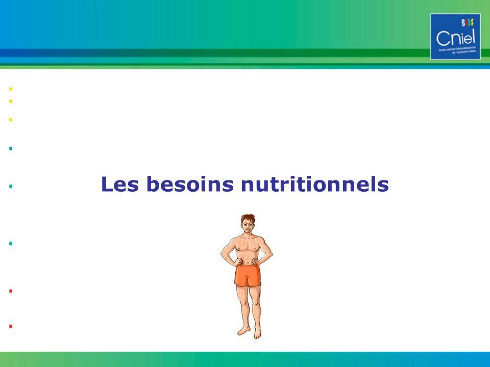 Les besoins nutritionnels