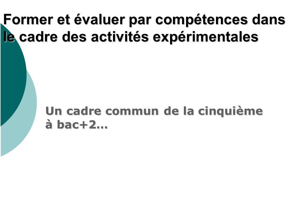 Un cadre commun de la cinquième à bac+2…
