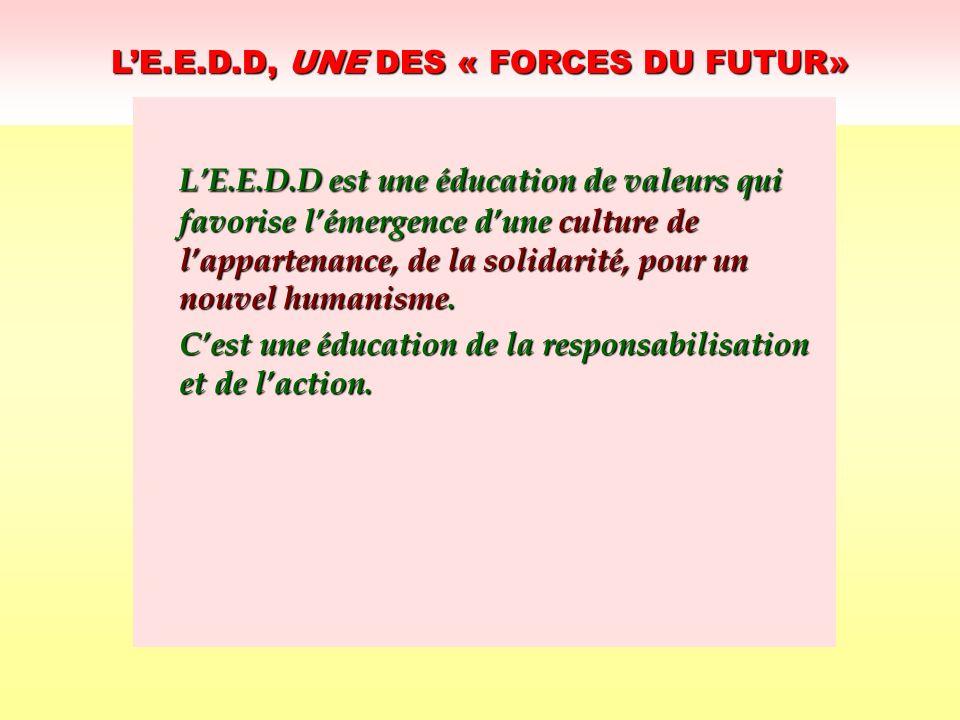 L'E.E.D.D, UNE DES « FORCES DU FUTUR»