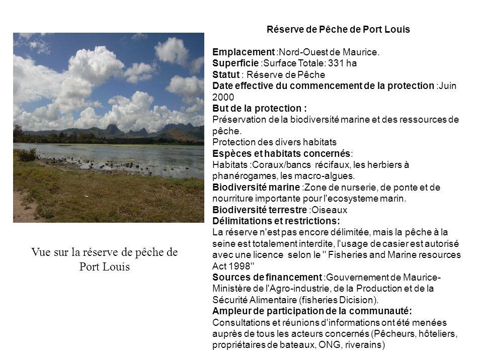 Réserve de Pêche de Port Louis