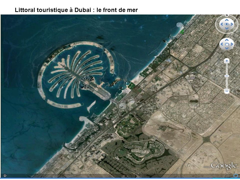 Littoral touristique à Dubai : le front de mer