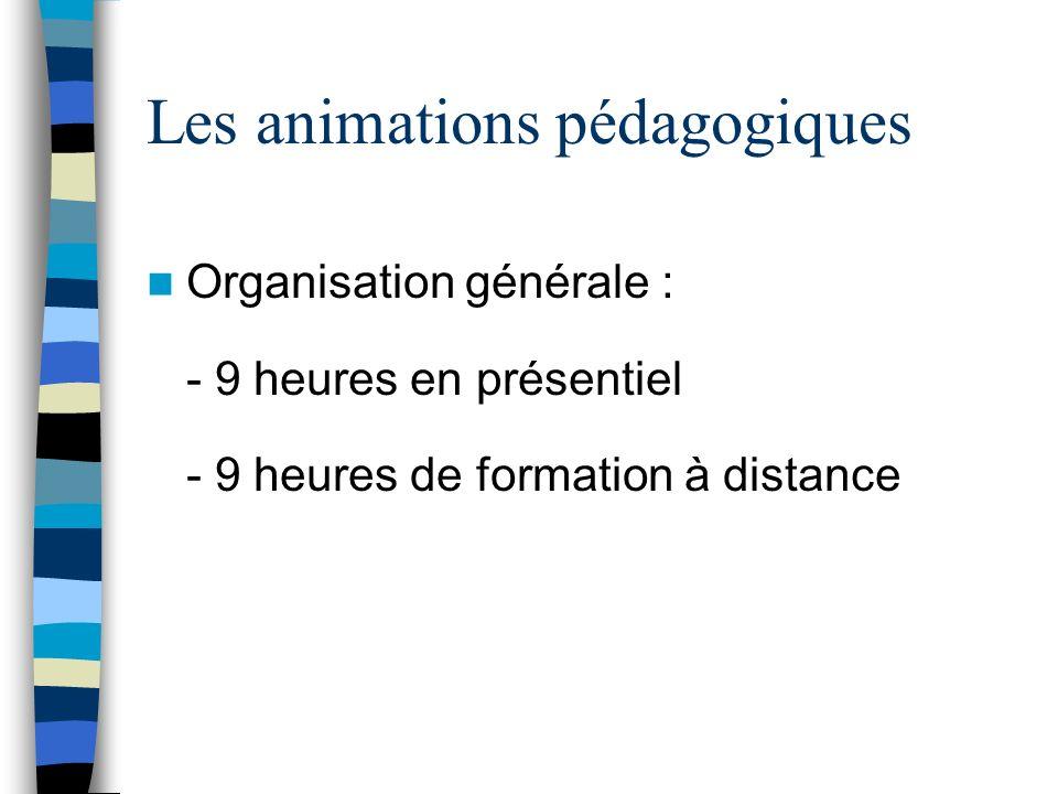 Les animations pédagogiques