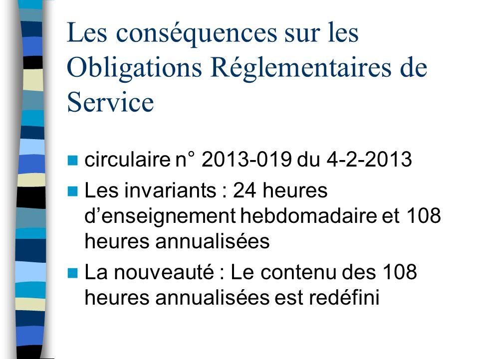 Les conséquences sur les Obligations Réglementaires de Service