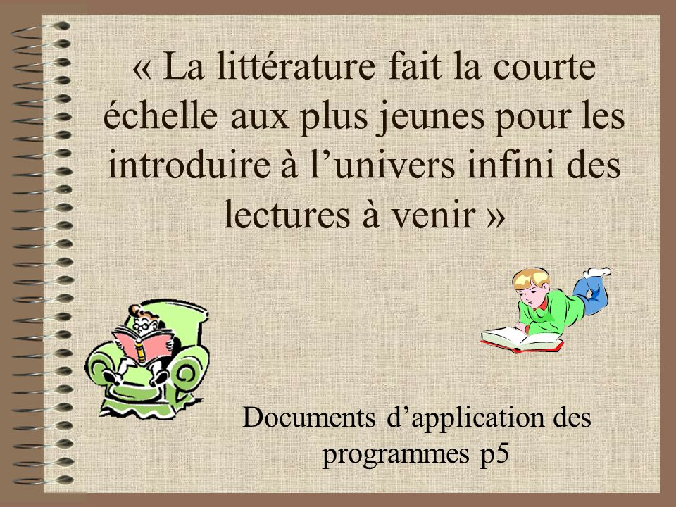 Documents d'application des programmes p5
