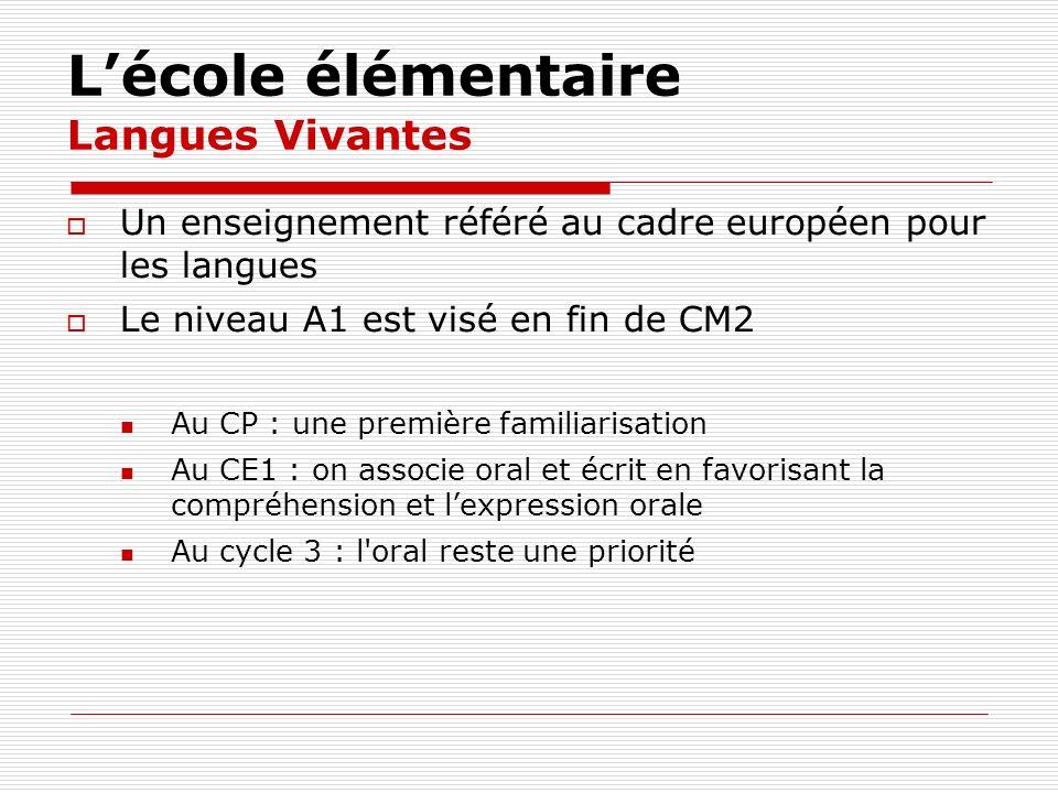 L'école élémentaire Langues Vivantes