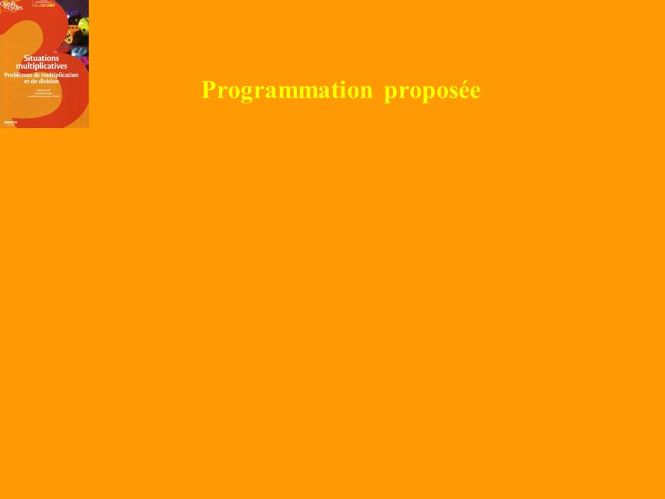 Programmation proposée