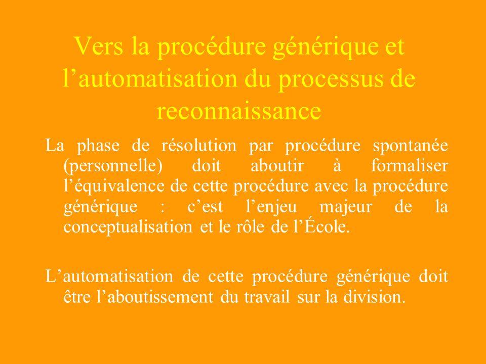 Vers la procédure générique et l'automatisation du processus de reconnaissance
