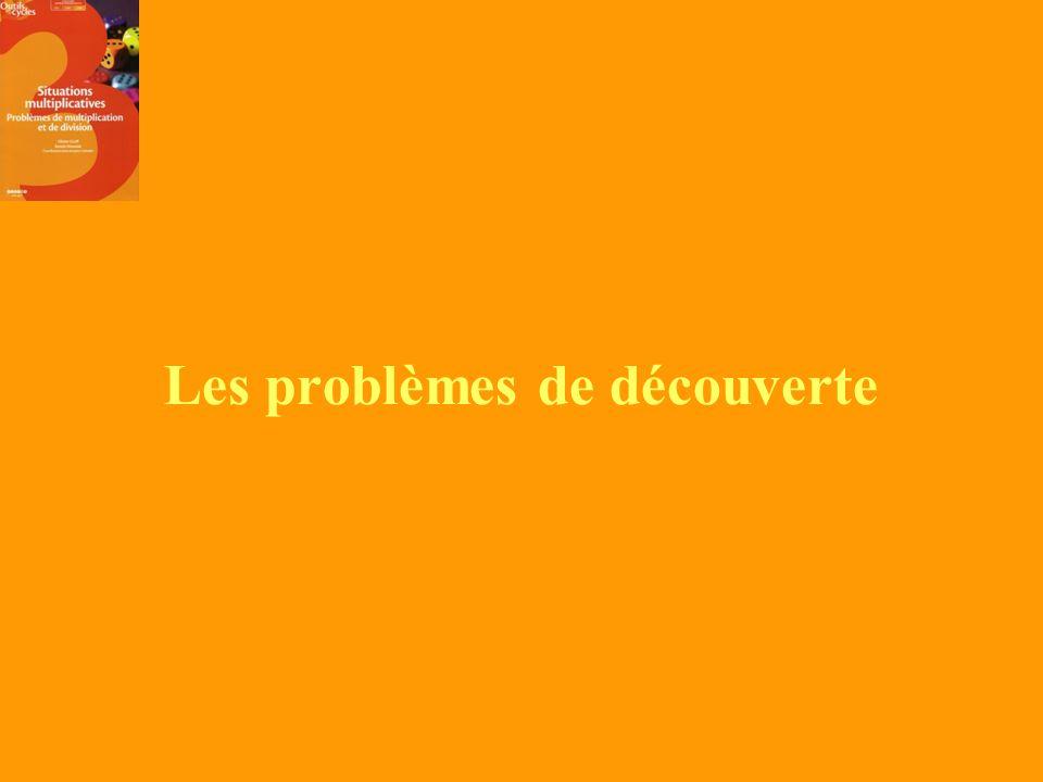 Les problèmes de découverte
