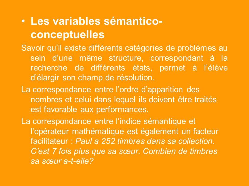 Les variables sémantico-conceptuelles