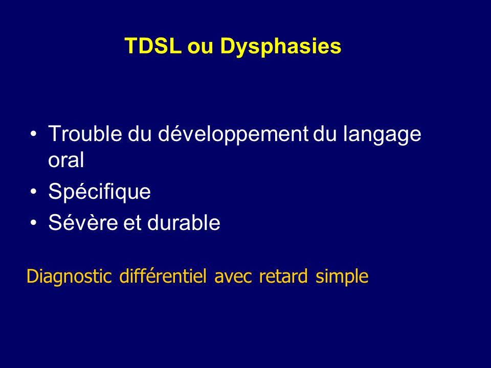 Trouble du développement du langage oral Spécifique Sévère et durable