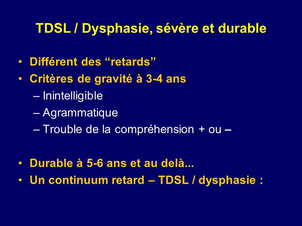 TDSL / Dysphasie, sévère et durable