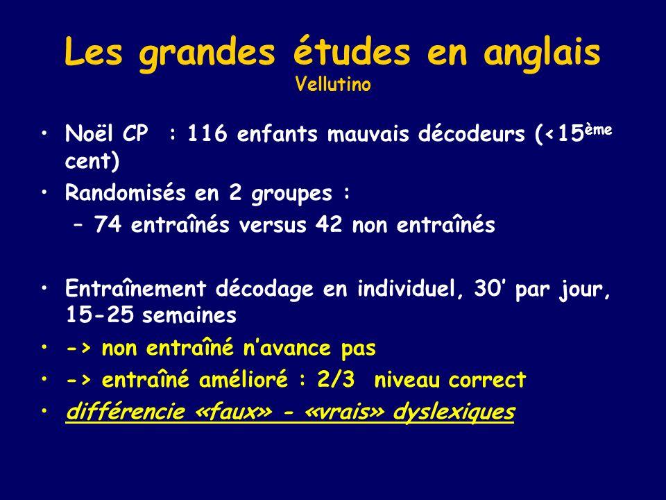 Les grandes études en anglais Vellutino