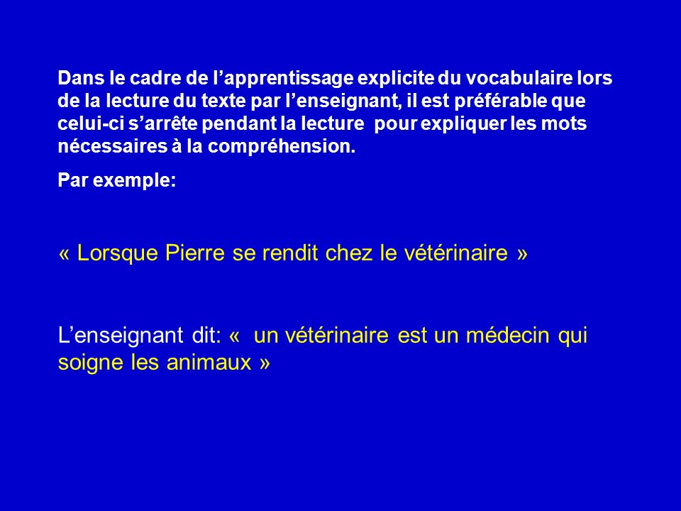 « Lorsque Pierre se rendit chez le vétérinaire »