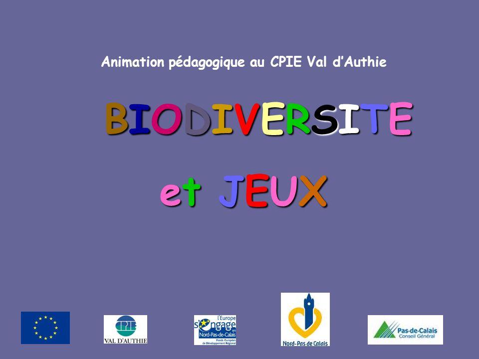 et JEUX Animation pédagogique au CPIE Val d'Authie BIODIVERSITE