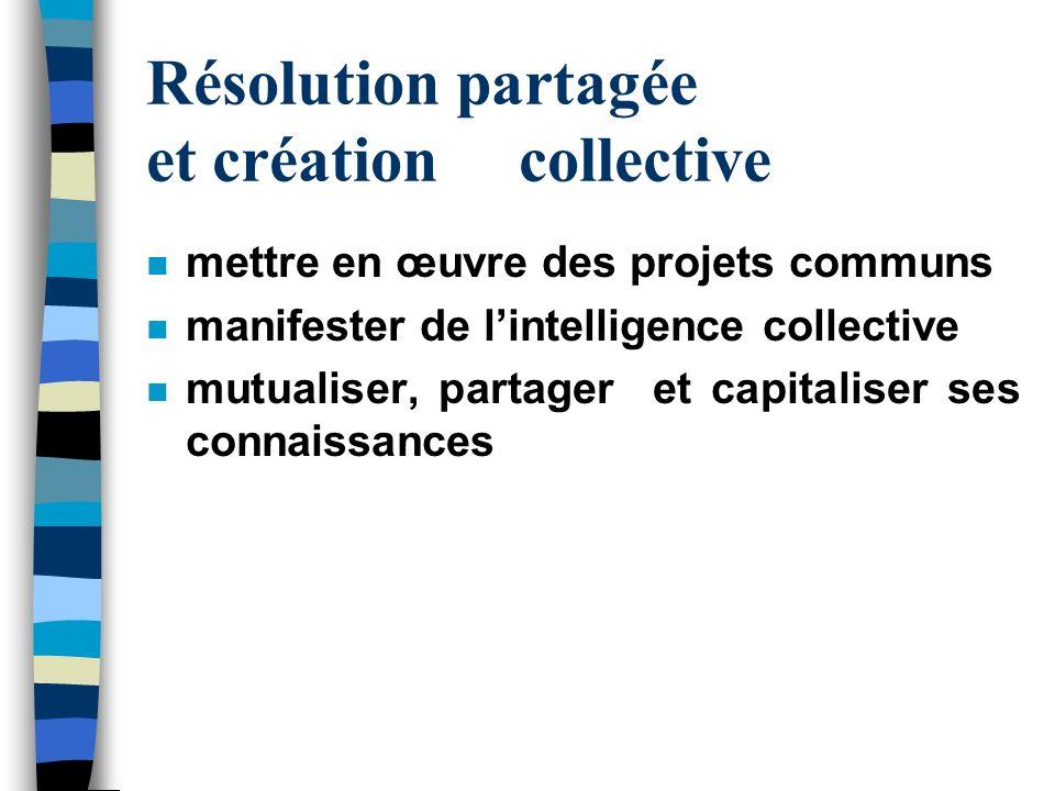 Résolution partagée et création collective
