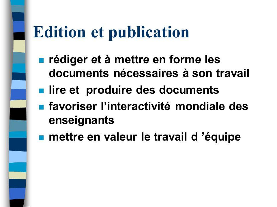 Edition et publication