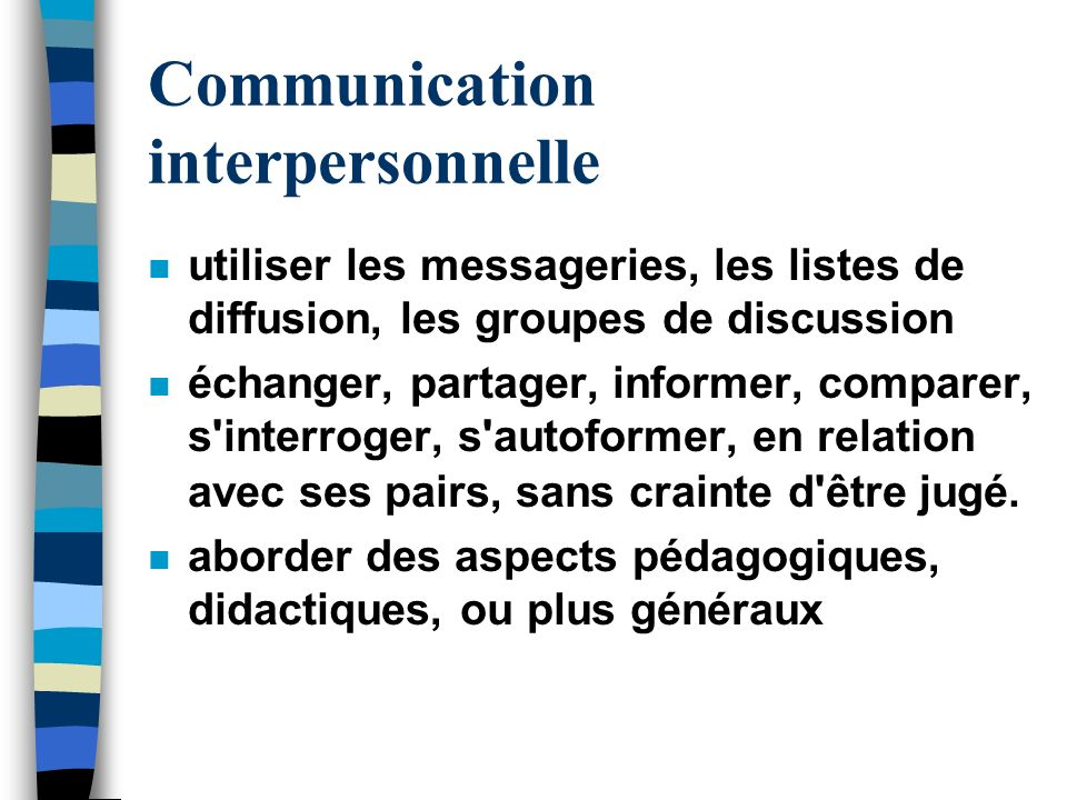 Communication interpersonnelle