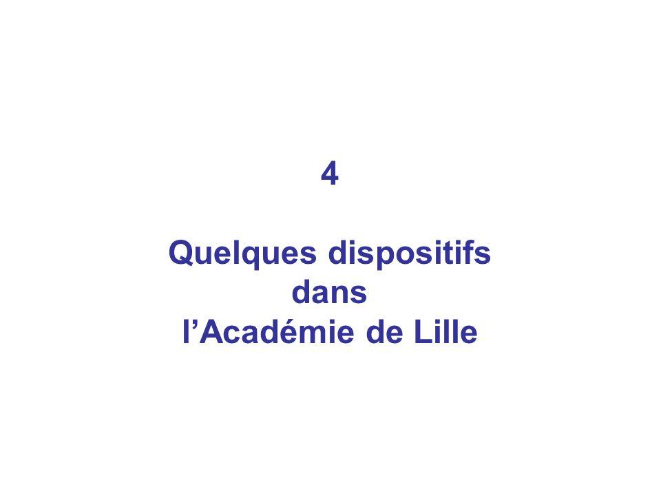 4 Quelques dispositifs dans l'Académie de Lille