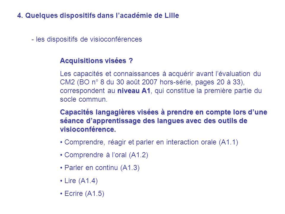 4. Quelques dispositifs dans l'académie de Lille
