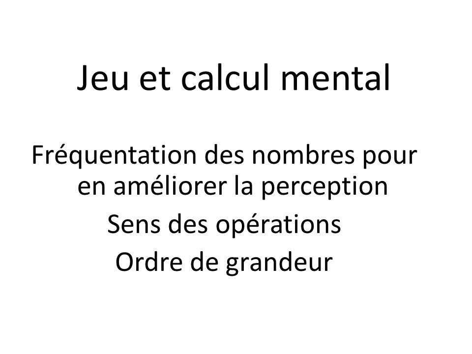 Fréquentation des nombres pour en améliorer la perception