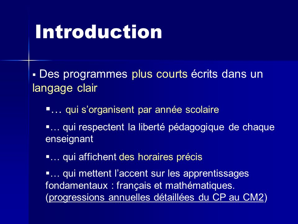 Introduction Des programmes plus courts écrits dans un langage clair
