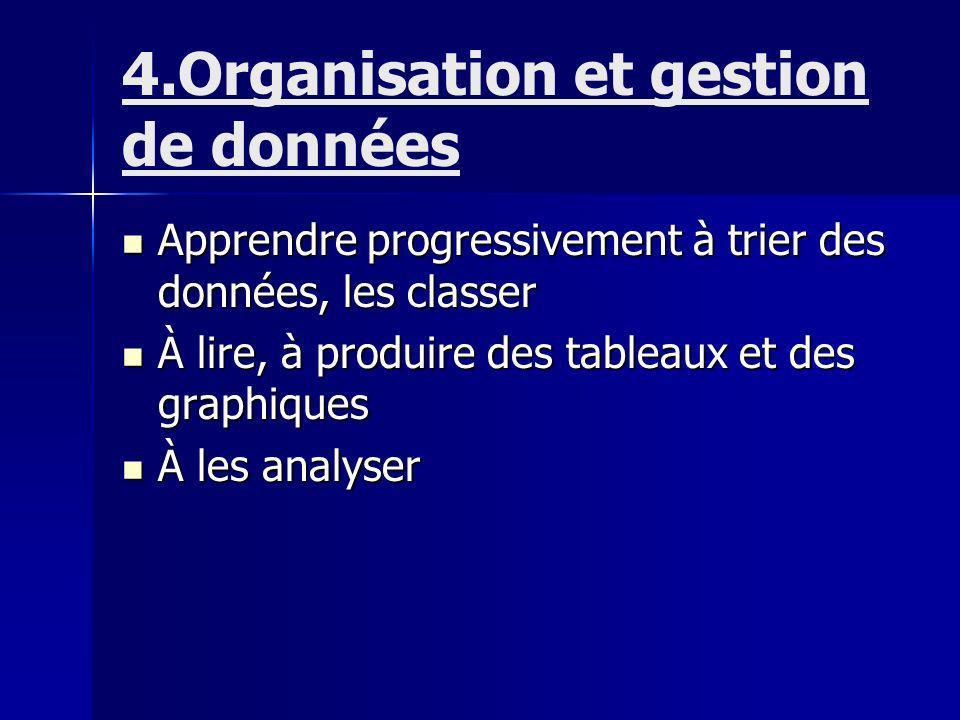 4.Organisation et gestion de données