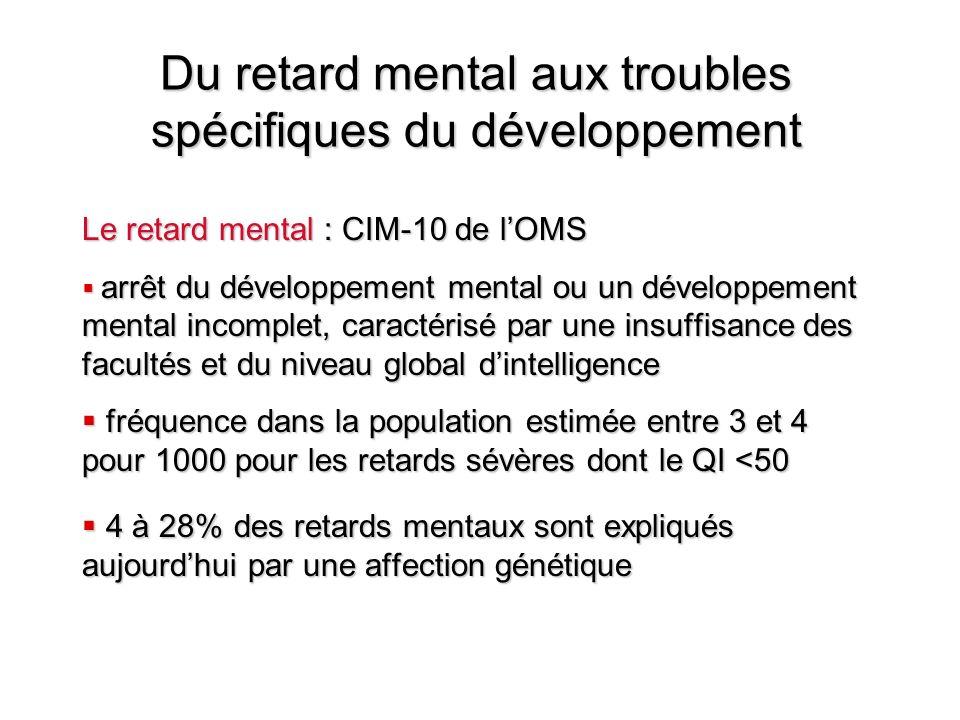 Du retard mental aux troubles spécifiques du développement