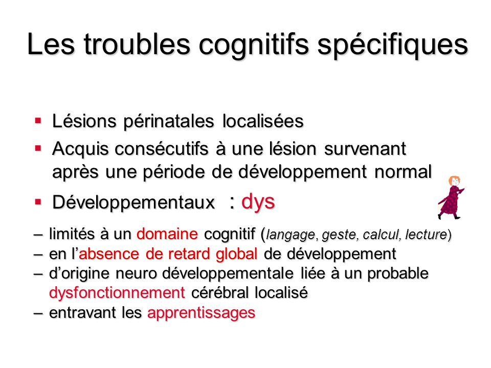Les troubles cognitifs spécifiques