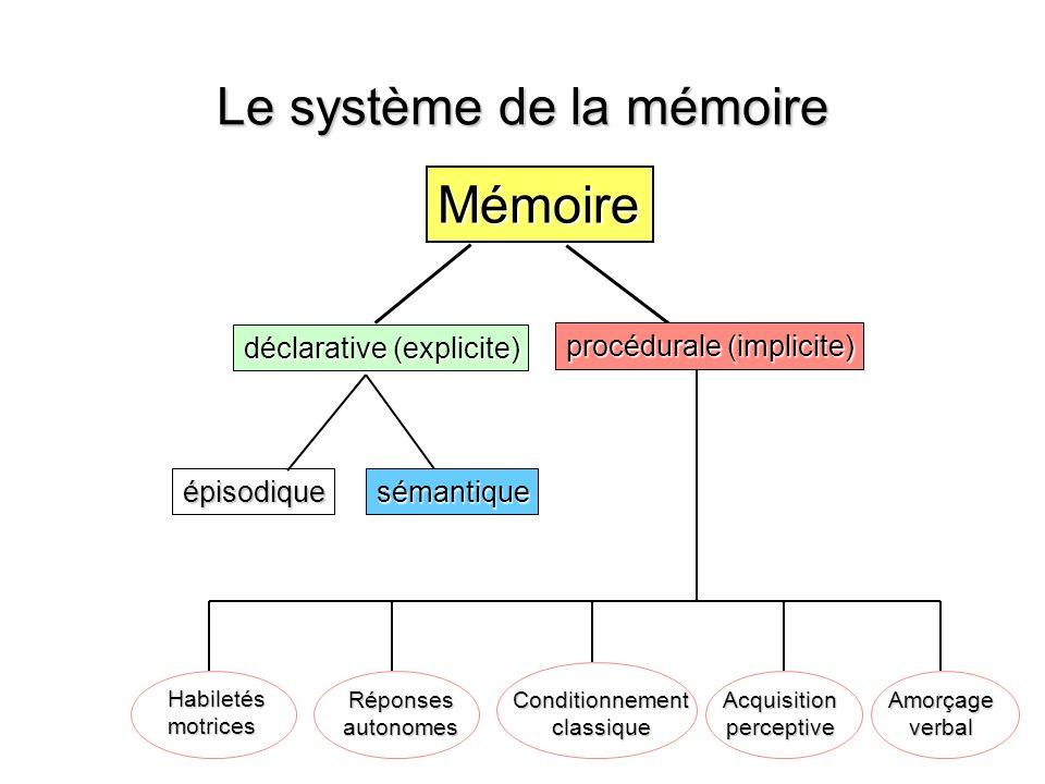 Le système de la mémoire