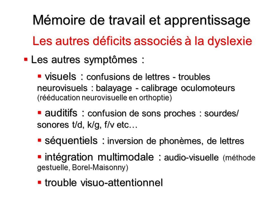 Mémoire de travail et apprentissage