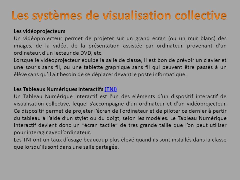 Les systèmes de visualisation collective