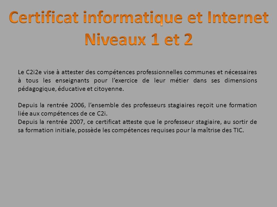 Certificat informatique et Internet