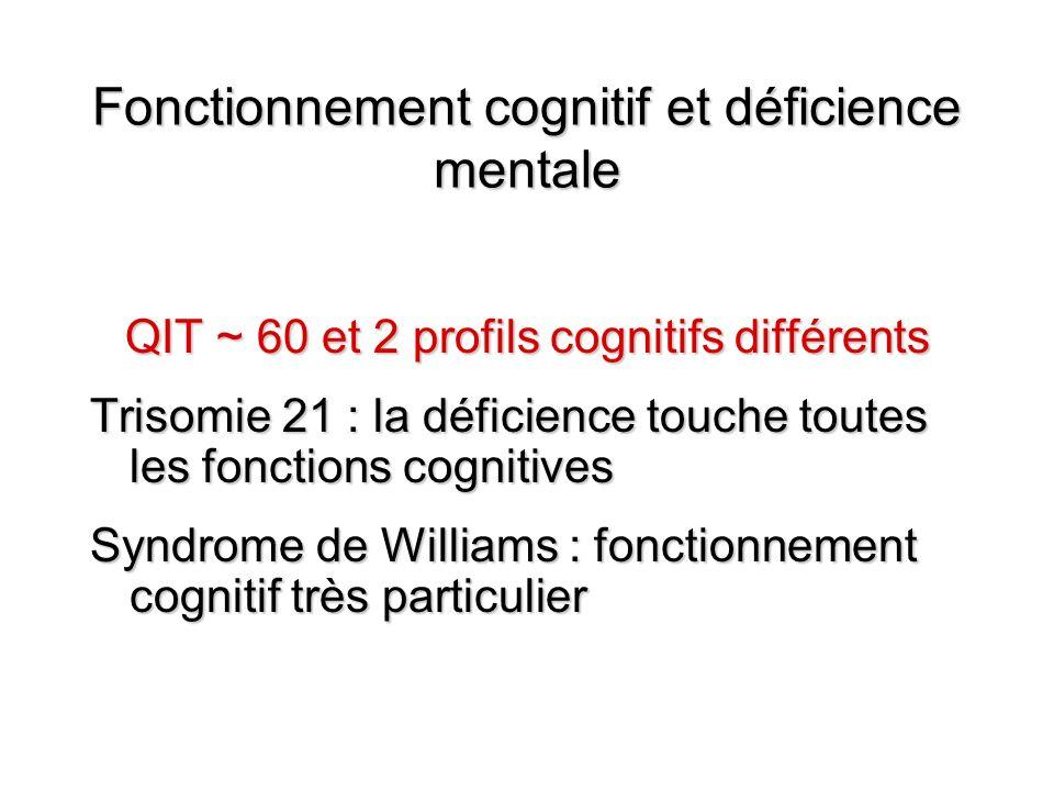 Fonctionnement cognitif et déficience mentale