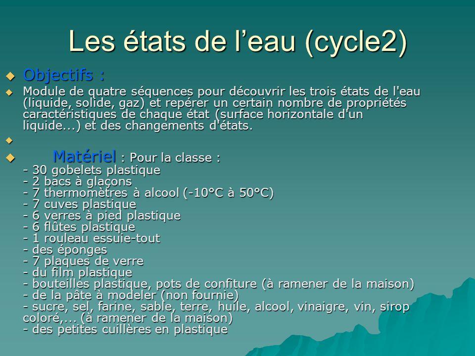 Les états de l'eau (cycle2)